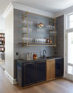 Mind-Blowing Kitchen Bar Ideas - Modern and Functional Kitchen Bar Designs - - Bar Ideen - Kitchen Bars Home Wet Bar, Bars For Home, In Home Bar Ideas, Wet Bar Designs, Modern Home Bar Designs, Home Design, Home Bar Cabinet, Bar Cabinets For Home, Built In Bar Cabinet