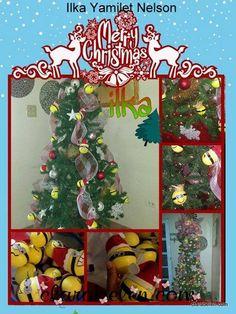 Arbol de Navidad Minions de Ilka Yamilet Nelson Minions, Christmas Tree, Holiday Decor, Home Decor, Merry Christmas, Teal Christmas Tree, Decoration Home, The Minions, Room Decor