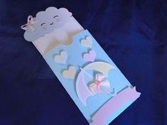 1st Birthday Cake For Girls, Cloud Party, Baby Shawer, Pillow Box, Girl Cakes, E Design, Christening, Birthdays, Invitations
