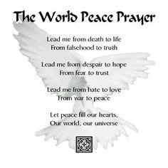 World #Peace Prayer worth a share!