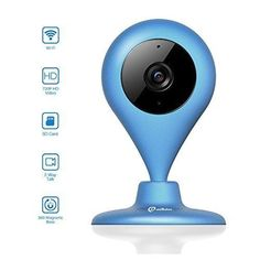 Wireless Security Camera, MiSafes WiFi Baby Pet Video Monitors 1280x720p HD Remote Home Surveillance Indoor IP Cameras with 2 Way Audio Talk for iPhone iPad Android Samsung Sony LG (Blue) - $99.99 #homesurveillancecameras #homesecuritysystemmonitor
