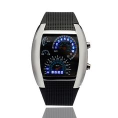 LED Digital Watch Innovative Car Speedometer Air Race Sports  Cool Flash Dial Men's Watches Electronic Children Boy Watches