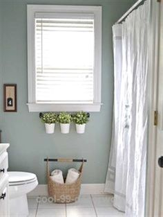 Today, go ahead and transform your bathroom with these quick and easy diy makeover ideas. try adding a wooden accent wall, repainting the walls, Diy Bathroom, Bathroom Interior Design, Half Bathroom Decor, Trendy Bathroom, Bathroom Windows, Bathroom Makeover, Amazing Bathrooms, Painting Bathroom, Bathrooms Remodel