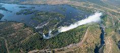 Victoriafälle - Hauptfälle von oben Water, Outdoor, Zimbabwe, Country, Ruins, Waterfall, National Forest, Gripe Water, Outdoors