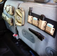EDC in your truck! Stick it on the bottom of the fold up seat to keep it out of sight and organized, but ready to go if you need it to be.