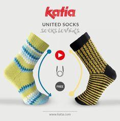 calcetines Archivos - Katia Blog Lanas y Telas Mosaic Patterns, Cool Patterns, Couture Invisible, Work Socks, Magic Loop, Learn How To Knit, Circular Knitting Needles, Sock Yarn, Knitting Socks