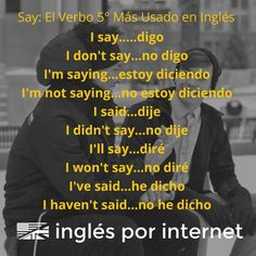 Apúntate para aprender inglés: inglesporinternet.com/lecciones-por-email/ Teach Me Spanish, Spanish Teaching Resources, Spanish Grammar, Spanish Words, Spanish Language Learning, English Vocabulary Words, Learning English, English Verbs, Spanish English