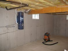 Basement before construction begins on Basement Remodeling Project in Northborough, MA