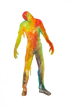 Illustration aquarelle Zombie silhouette horreur Zombie Silhouette, Illustration, Dinosaur Stuffed Animal, Horror, Impressionism, Watercolor Painting, Event Posters, Drawing Drawing, Illustrations