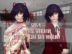 Sims Noodles: Yandere Simulator -- Nemesis Chan Hair Mod - Sims 4 Hairs - http://sims4hairs.com/sims-noodles-yandere-simulator-nemesis-chan-hair-mod/