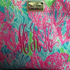 monograms always look better on Lilly!