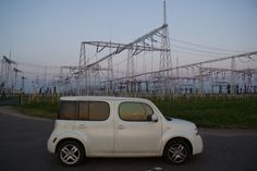 Electric sunset Nissan Cube :)