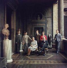 l principe Leone Massimo con la moglie e i figli