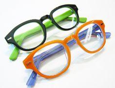 bf1dbd2d32604 2tone reading glasses in hard to resist colors. Black or Orange hipster  geek hornrim readers