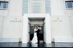 Midland Hotel, Morecambe Wedding. Couple Shot