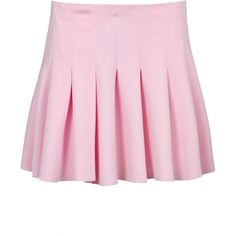 Serena Pleated Scuba Mini Skirt ($30) ❤ liked on Polyvore featuring skirts, mini skirts, bottoms, pink, & - clothing - skirts, pink mini skirt, mini skirt, pleated miniskirt, pink skirt and short skirts