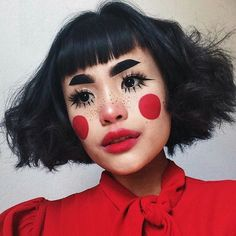 😇 im feelin Super Cute in this… 🔴🐻 hello ? 😇 im feelin Super Cute in this Look , i want this 2 b my evryday face now ! 😤 obviously inspired… Cute Makeup, Makeup Art, Makeup Looks, Hair Makeup, Doll Face Makeup, Teen Makeup, Body Makeup, Crazy Makeup, Foto Portrait