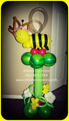 Queen Bee Balloon Tower