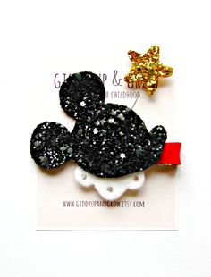 Hey, I found this really awesome Etsy listing at https://www.etsy.com/listing/185747044/mickey-mouse-hair-clip-glitter-mickey