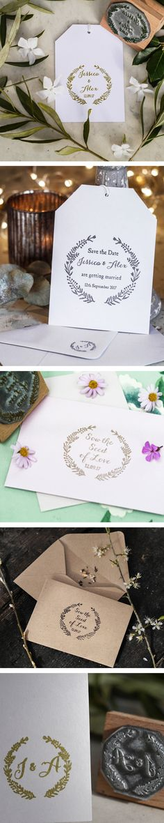 Rubber stamps are such a useful and economical way to create your own look and create a fabulous wedding with an invitation stamp, save the date stamp, favour stamp, monogram stamp, RSVP stamp or any other wedding stamp ... we have plenty of rubber stamp ideas for your wedding but if you can't see what you're looking for, please get in touch. Start with a save the date stamp and just take it from there! Wedding suite folk floral wedding collection Wedding Suits, Our Wedding, Collar Rosa, Save The Date Stamp, Wedding Stationery, Wedding Stamps, Floral Wedding, Rsvp, Create Your Own