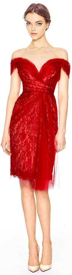 Ravishing red / karen cox. Marchesa Pre-Fall 2014
