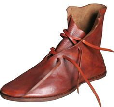 15th century...Clump sole Ankle boots