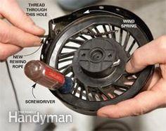 Lawn Mower Repair: Broken Cord   The Family Handyman