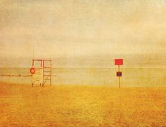 No Lifeguard On Duty Art Print