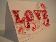 Valentine's LOVE card - Quilled Creations Quilling Gallery