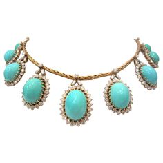 MARCHAK Paris Outstanding Turquoise and Diamond Set