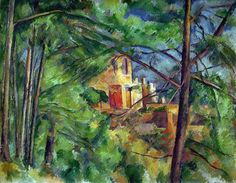 Paul Cezanne - The Chateau Noir, 1885 at Oskar Reinhart Art Collection Winterthur Switzerland