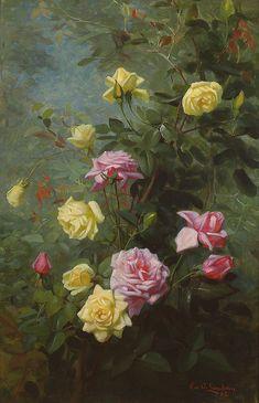 Yellow & Pink Roses - George Cochran Lambdin