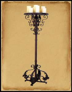 Fl 410 candles and candlesticks pinterest candelabra floor fl100 old world wrought iron floor lamp mozeypictures Images
