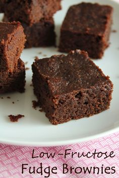 These brownies low-fructose and gluten free. Sweetened with dextrose and baked with a combination of almond flour and white rice flour, they...