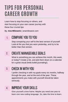 Tips for career growth. Career Success, Career Change, Career Advice, Career Goals, Job Promotion, Work Goals, Job Interview Tips, Jobs, Work Motivation