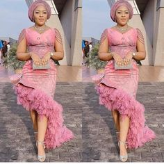 The trendy Asoebi fashion styles at the moment. African Lace Styles, African Lace Dresses, Latest African Fashion Dresses, African Dresses For Women, African Attire, Nigerian Lace Dress, Derby Outfits, Aso Ebi Styles, Ankara Styles
