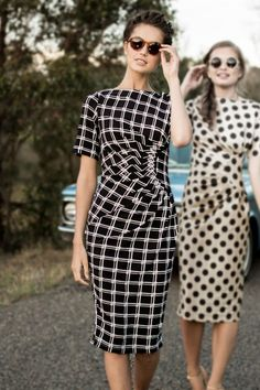 Kangaroo Crossing Dress from Shabby Apple. I like the choice of checker pattern for this gathered bodice.