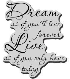 Stampendous Cling Rubber Stamp - Dream Forever - imprint if the letters are big enough, that is