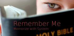 Remember Me Bible Verse Memory