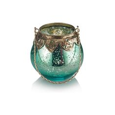 Round Mercury Glass Tealight Holder ($7.19) ❤ liked on Polyvore featuring home, home decor, candles & candleholders, fillers, candles, decor, backgrounds, home & gifting sale, green candles and green home decor