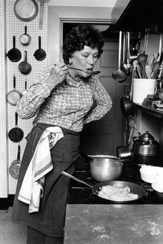 Julia Child i cook for Julia Child many time's in Santa Barbara . Chef Guy Leroy ....and I have been in Julia's Cambridge kitchen several times ....now in the Smithsonian!