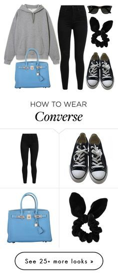 Sin título #11974 by vany-alvarado on Polyvore featuring Levis, Converse, Hermès, Ray-Ban and Topshop