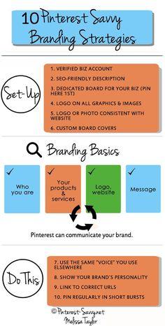 Branding your Business on Pinterest #branding #Pinterest Infographic www.socialmediamamma.com