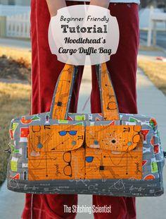 Free bag pattern of the Noodlehead Cargo Duffle Bag using Robert Kaufman Fabrics.