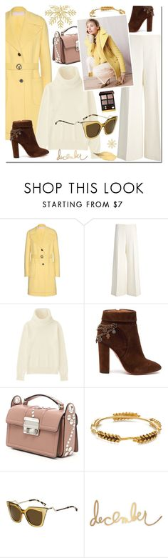 """Winter Look with New Sunglasses"" by mada-malureanu ❤ liked on Polyvore featuring Valentino, Joseph, Uniqlo, Aquazzura, Aurélie Bidermann, J.Crew, Fendi, Heidi Swapp, Tom Ford and sunglasses"