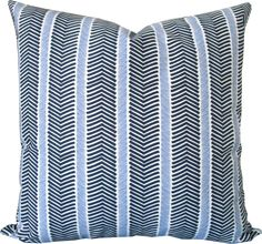 Designer Decorative Pillow Cover-Navy and Purple Blue Herringbone-Accent Pillow-Sofa Pillow-Toss PIllow-Throw Pillow-Single Side by KLineDeco on Etsy https://www.etsy.com/listing/208376427/designer-decorative-pillow-cover-navy