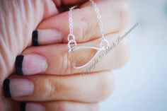 NEW  Wishbone Festoon Necklace  Solid Sterling by blackpersimmons, $23.00