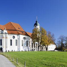 Zimmermann's Church: Wieskirche near Steingaden, Allgau, Bavaria, Germany