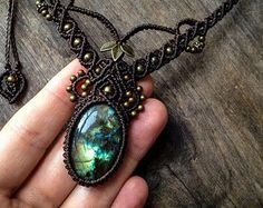 This bohemian chic elven design I created for this necklace has a very unique feminine look that will certainly attract attention ;) You will