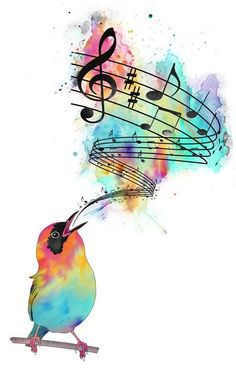 plantilla+tatuaje+nota+musical+pajaro.jpg (496×800)